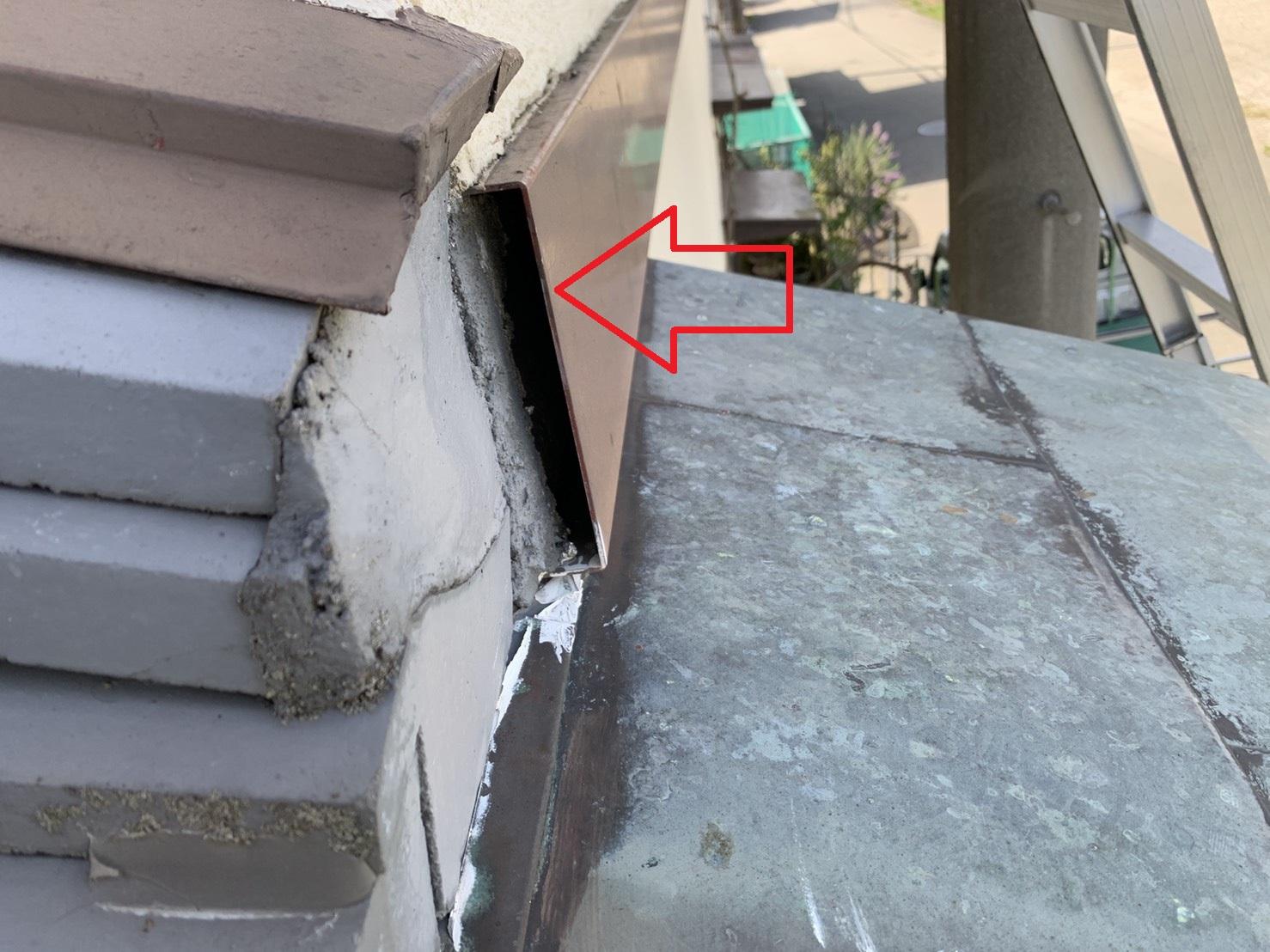 雨漏りの原因になりそうな外壁の腰帯