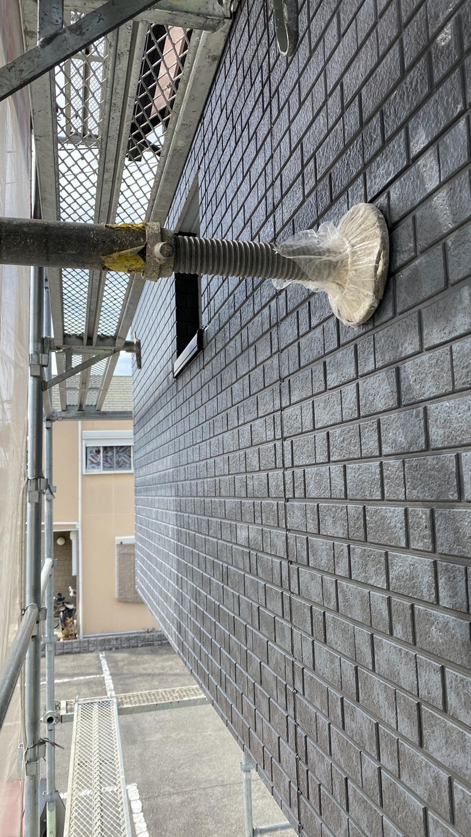 神戸市垂水区でのベランダサイディング貼り替えが完了した様子