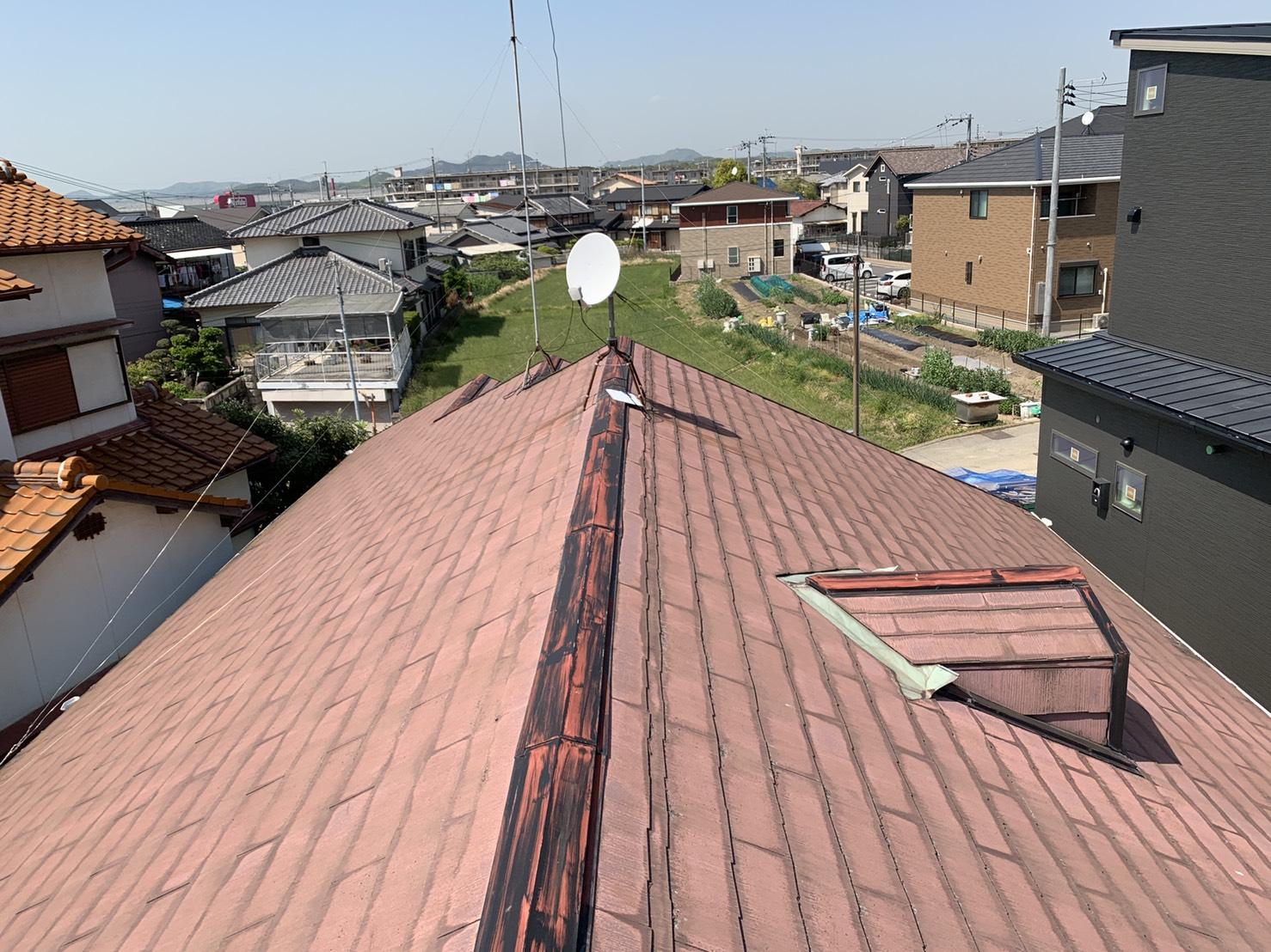 加古川市で行った屋根診断の屋根の様子