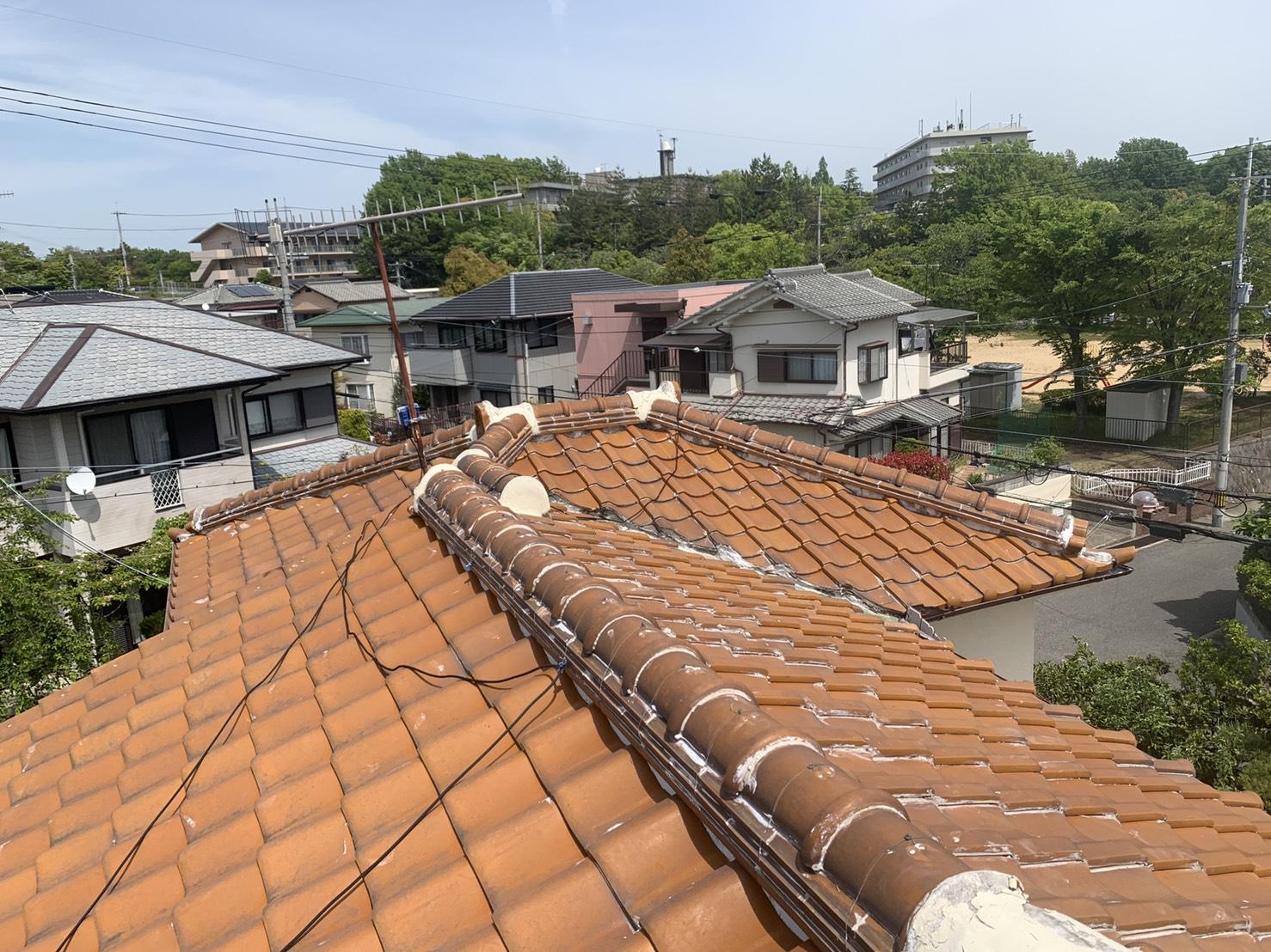 神戸市西区で瓦屋根調査を行った屋根の全景