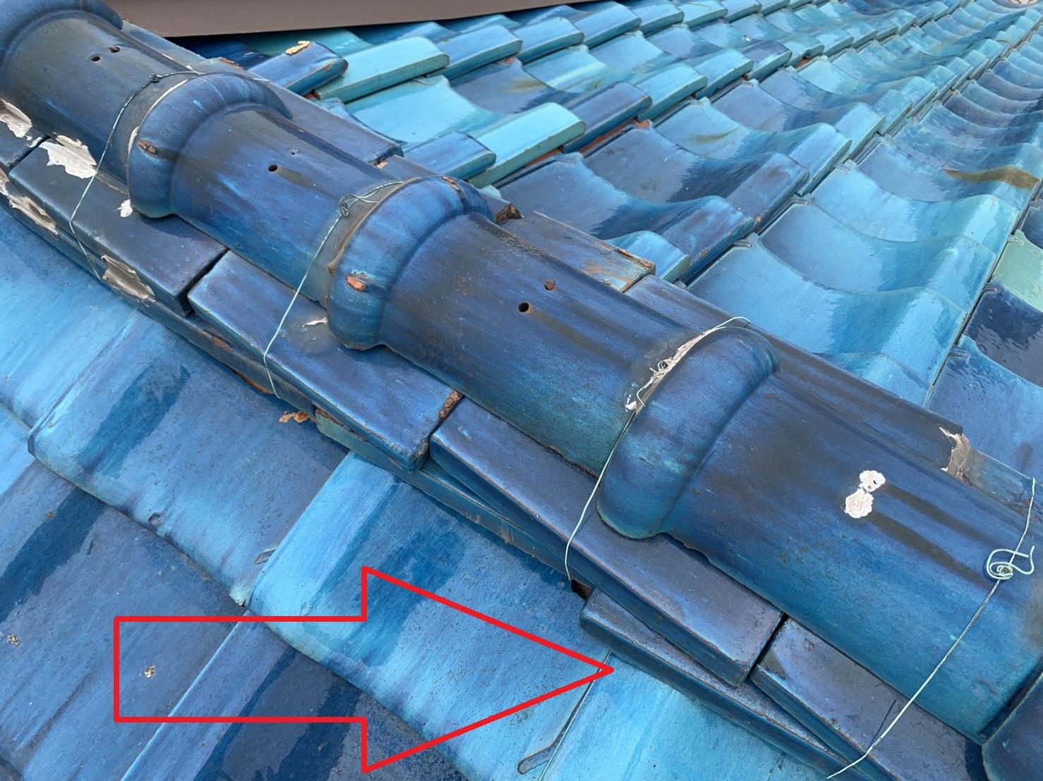 外装リフォームのお見積もりで瓦屋根を点検