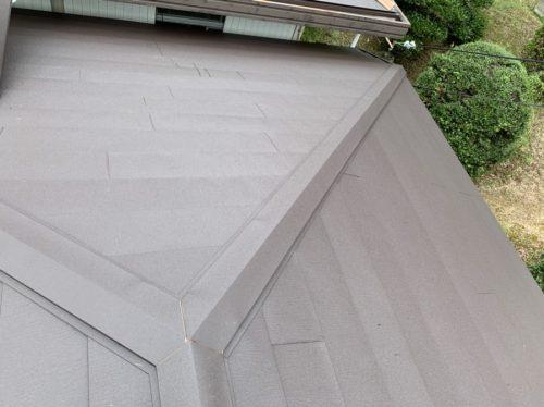 ガルテクトを葺き替えた屋根の写真