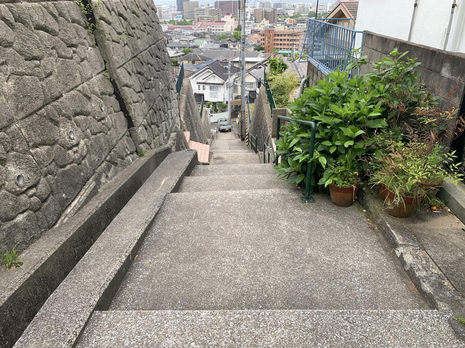 神戸市中央区で雨漏り調査を行った現場までの道のり