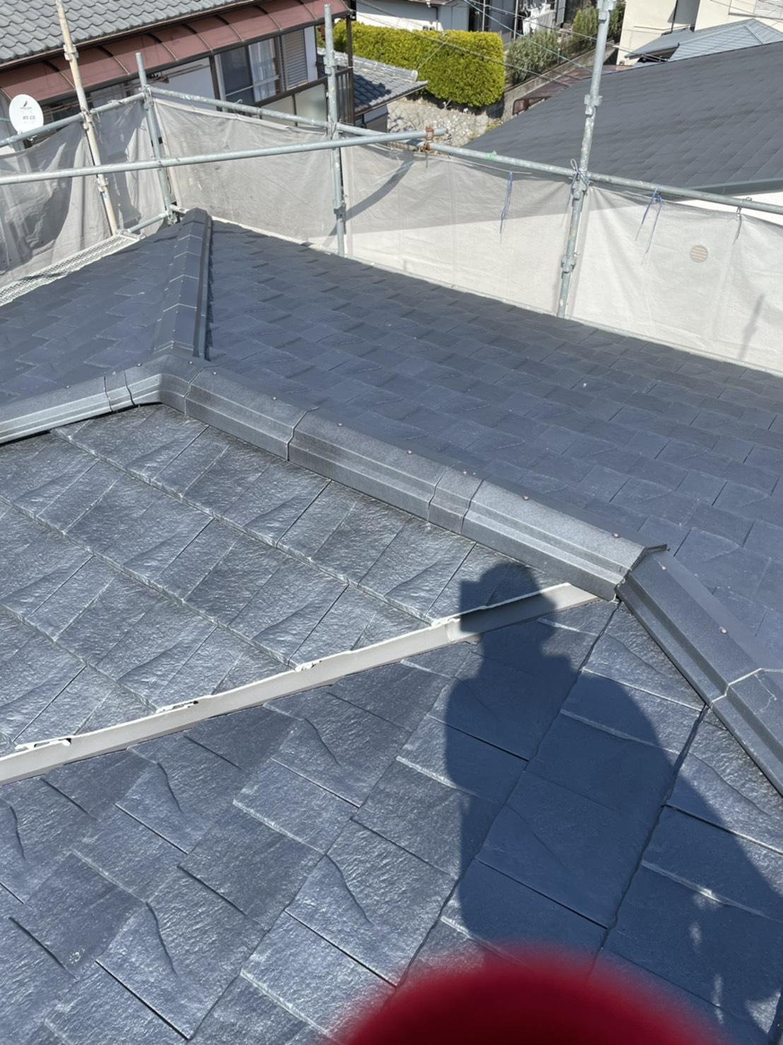 神戸市北区での屋根葺き替え工事が完了した様子