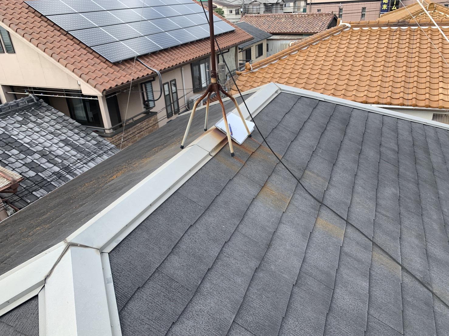 明石市で屋根診断を行った屋根の形状