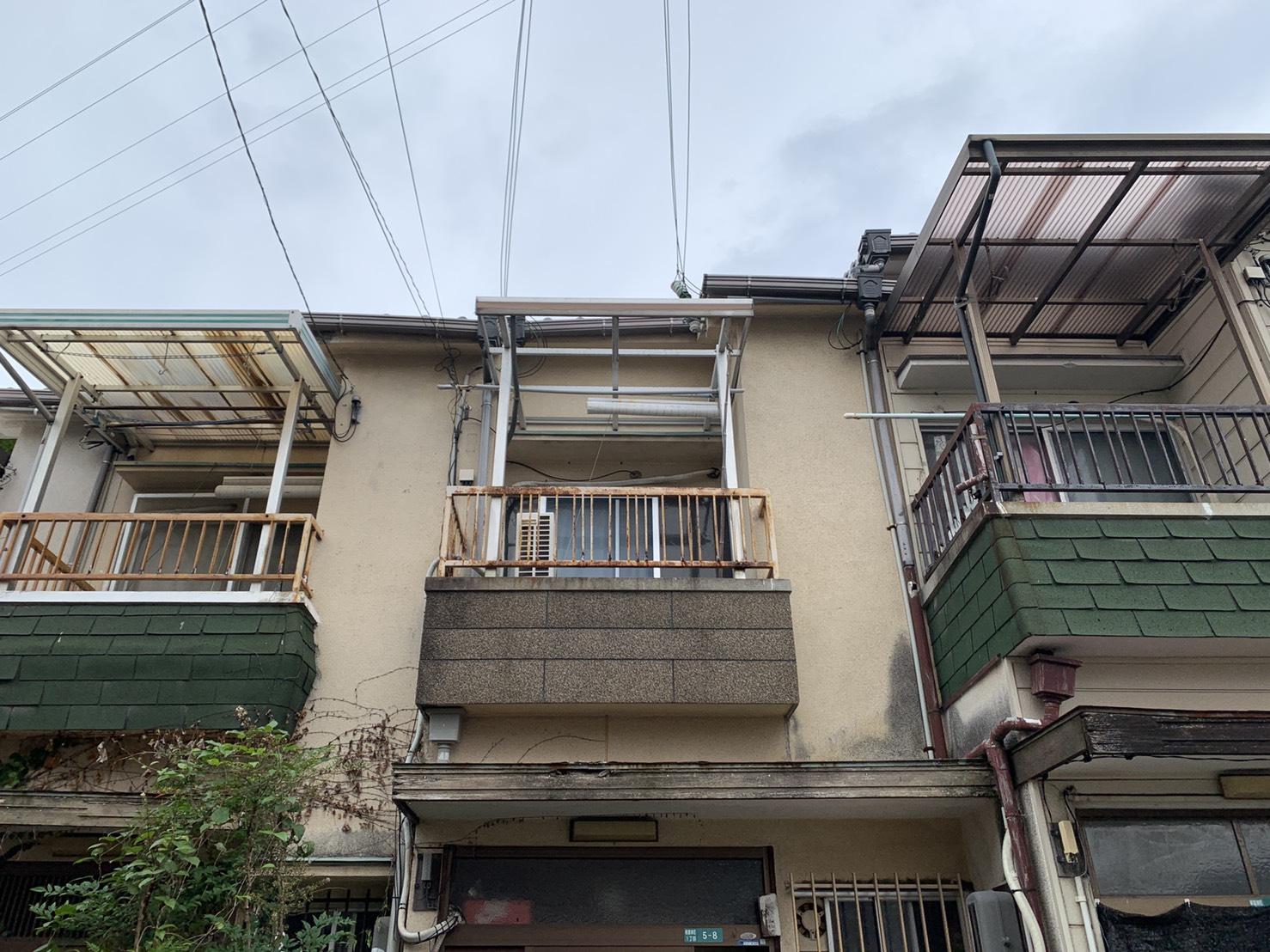 加古川市で台風により雨漏りしたお家の様子