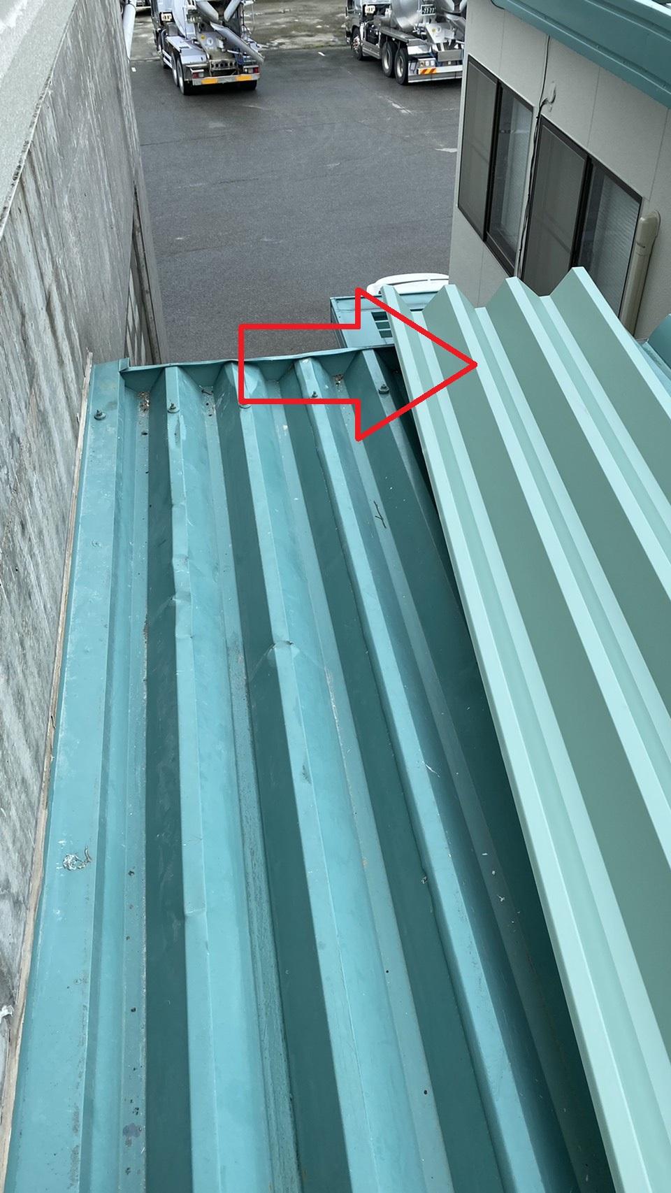 部分的な屋根修理で使用する折板屋根