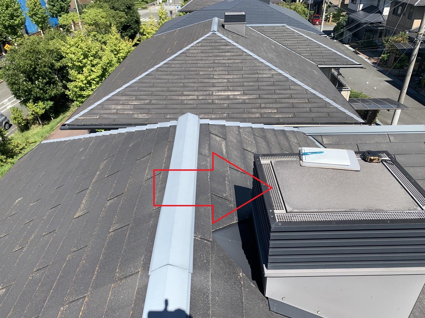 神戸市西区のカラーベスト屋根の様子