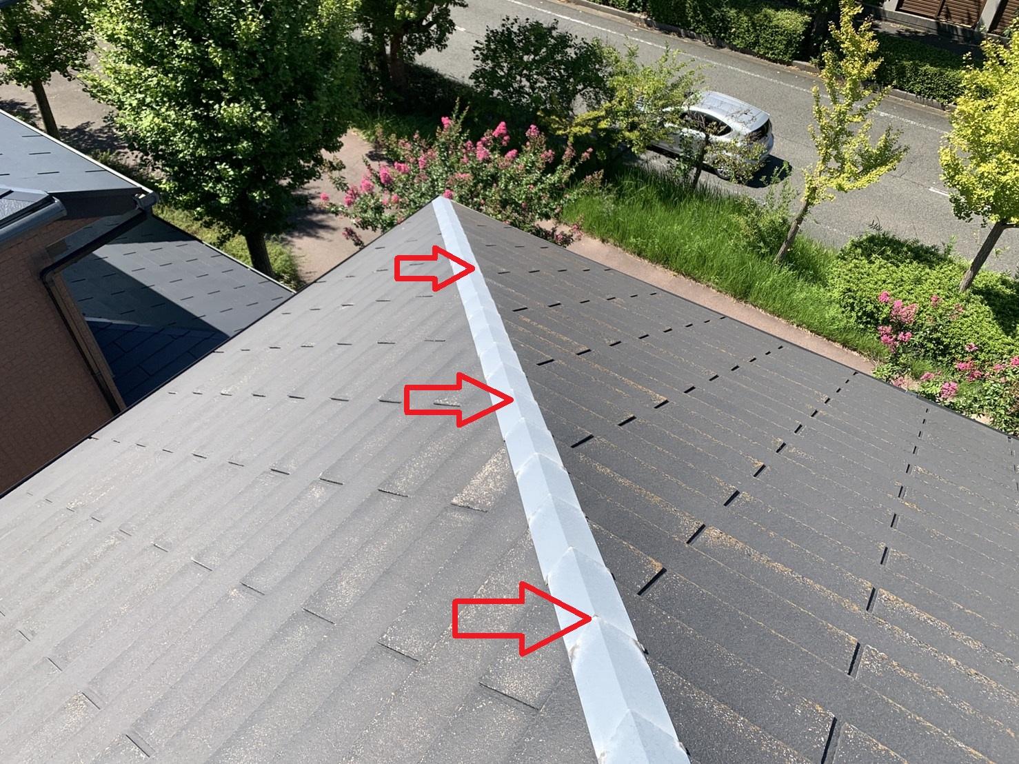 カラーベスト屋根の差し棟