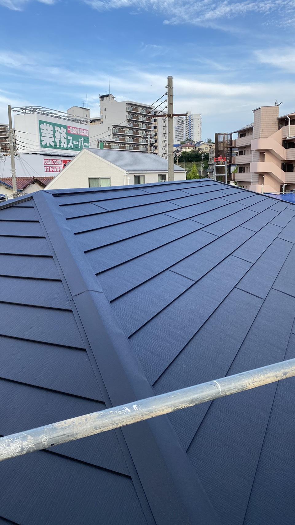 カバー工法したカラーベスト屋根