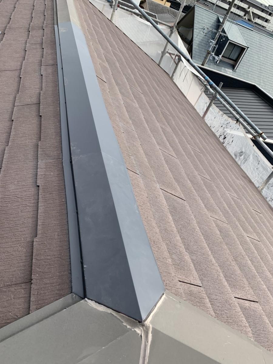 屋根修理完了の様子