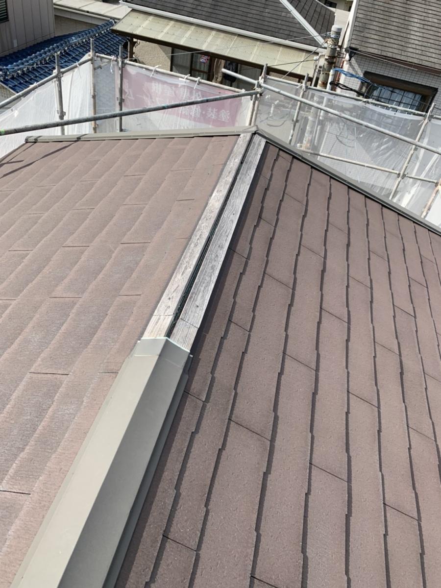 神戸市垂水区で火災保険工事!強風で飛散した屋根を修理しました