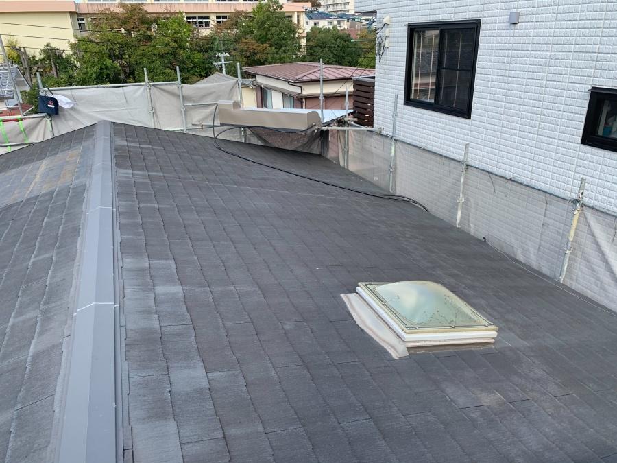 淡路市屋根カバー工法の施工前の様子