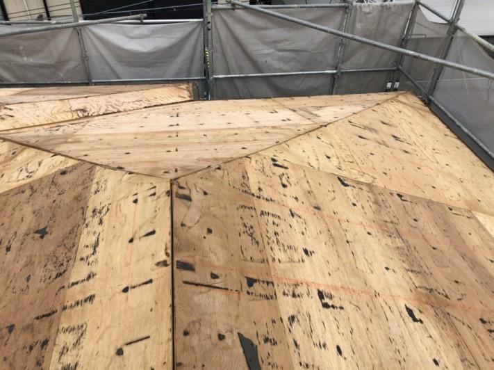 撤去後の野地板の様子