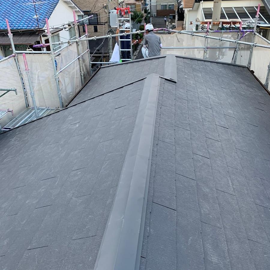 カラーベスト屋根の仕上がり