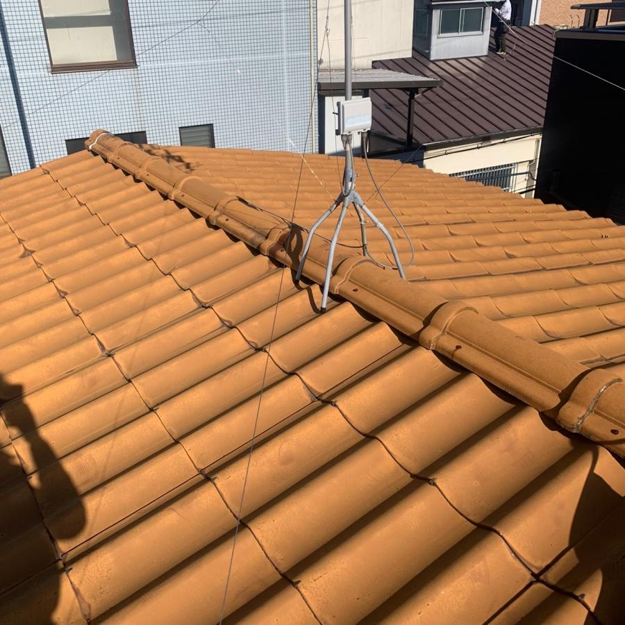積水瓦屋根の様子