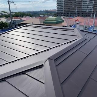 施工後の金属屋根