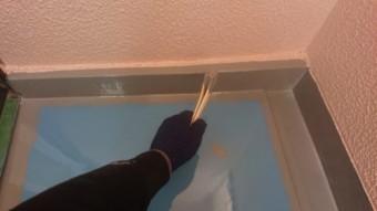ウレタン樹脂を塗り重ねるところ