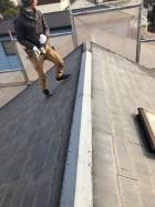 神戸市で行ったアスベスト含有屋根材の撤去処分前の様子