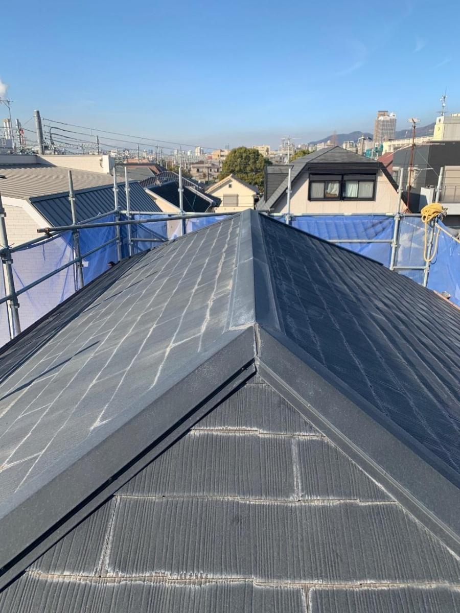 既存のカラーベスト屋根の様子