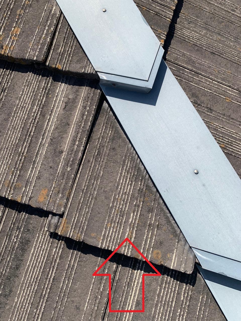 瓦屋根修理で見つけたズレている瓦屋根