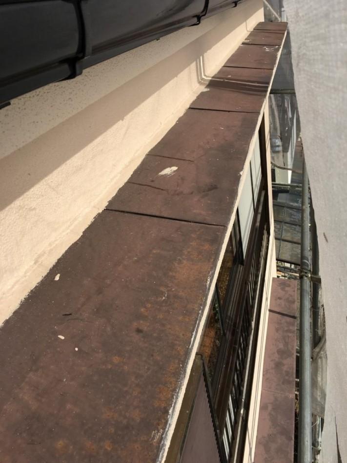 既存の庇屋根の様子