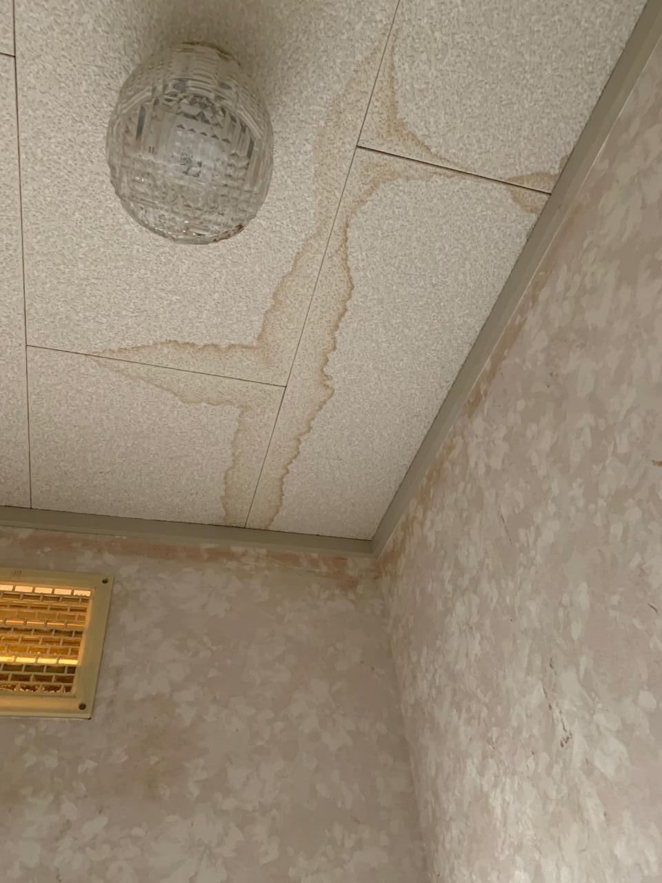 天井にシミができている様子