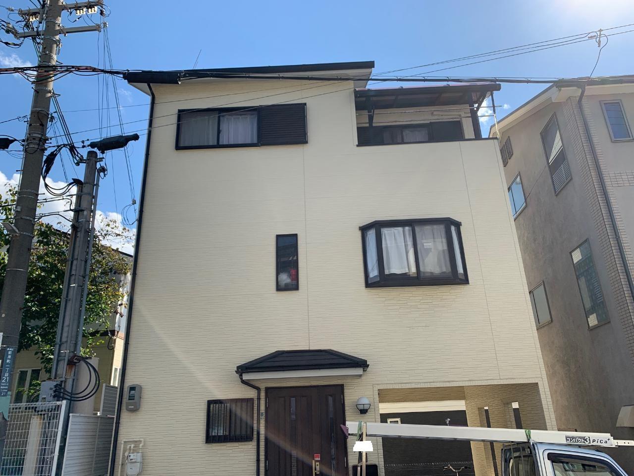 神戸市で台風によりアンテナが倒壊してしまったお家の様子